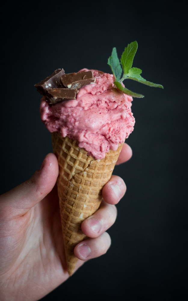 Strawberry, Vanilla and Vodka Ice-Cream