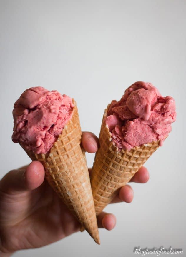 Strawberry ice-cream