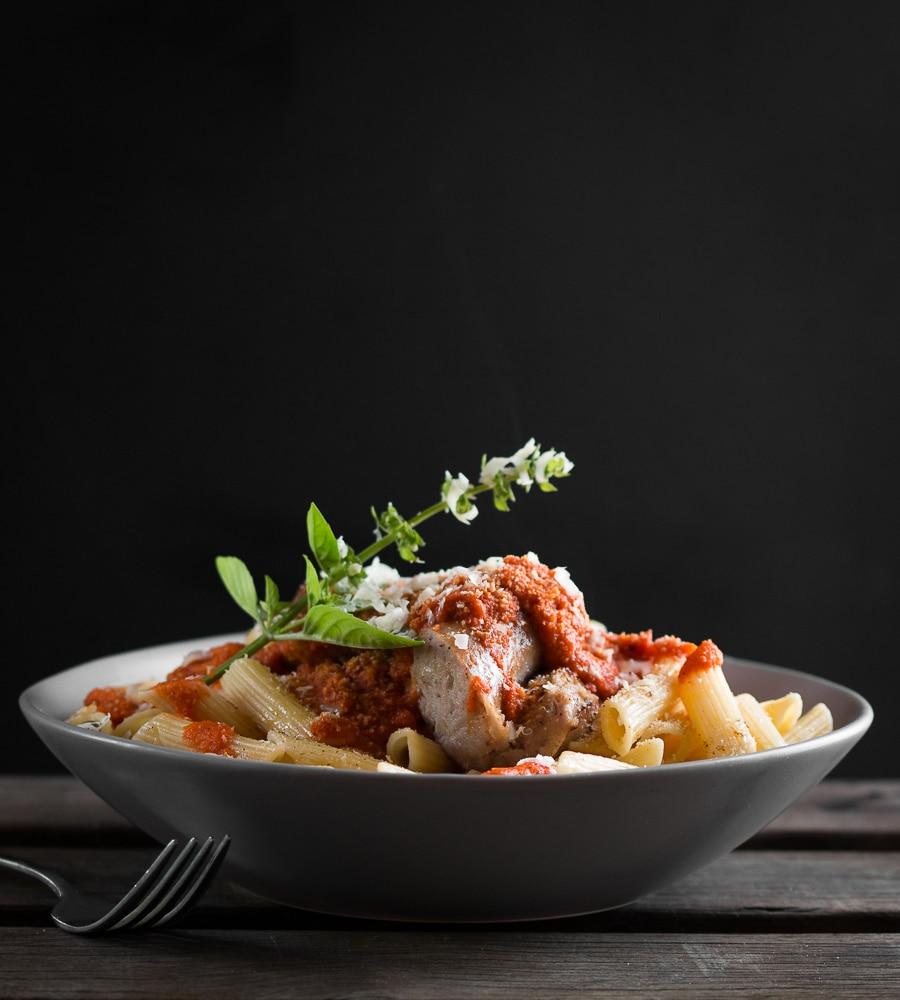Crumbed, sausage and hidden veggie pasta unmarked (3 of 5)