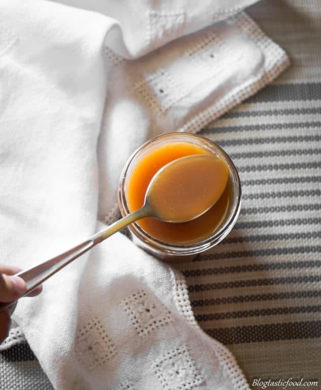 Rum flavoured salted caramel sauce recipe