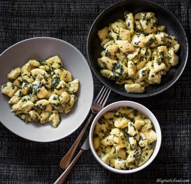 pesto potato gnocchi ungarnished