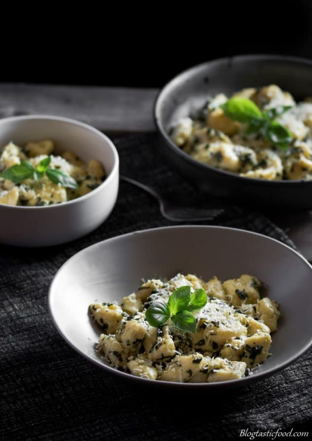 delicious pesto potato gnocchi