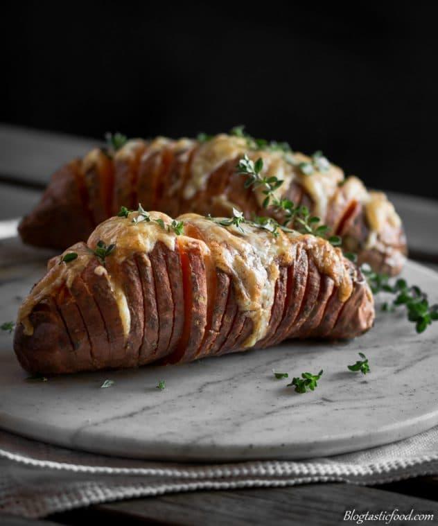 Delicious Hasselback sweet potatoes