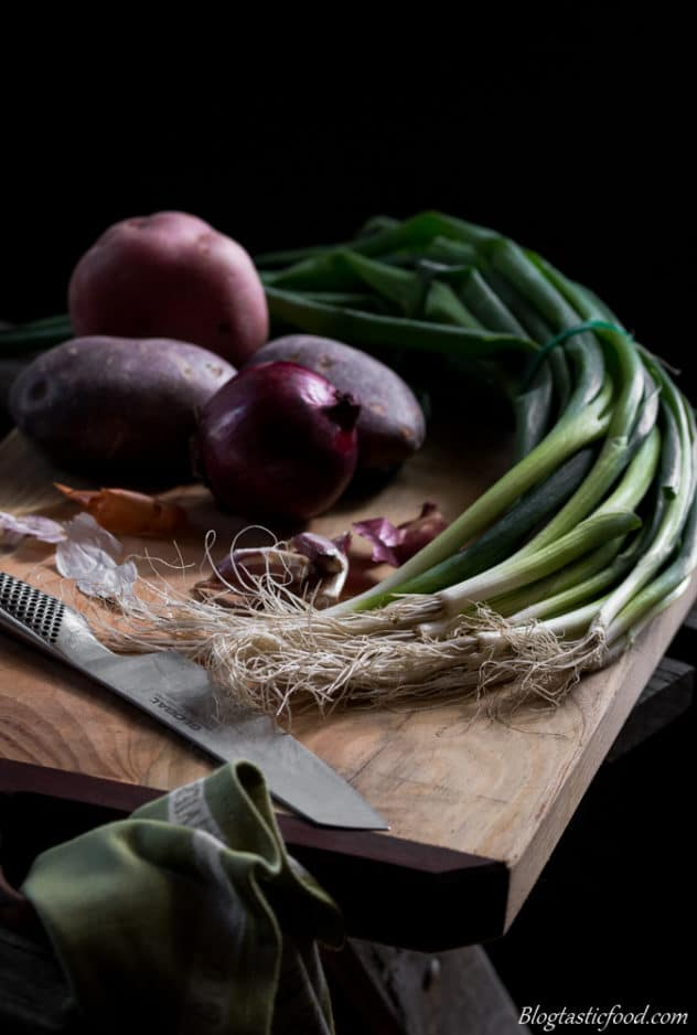 Ways to improve your food photography prepping ingredients