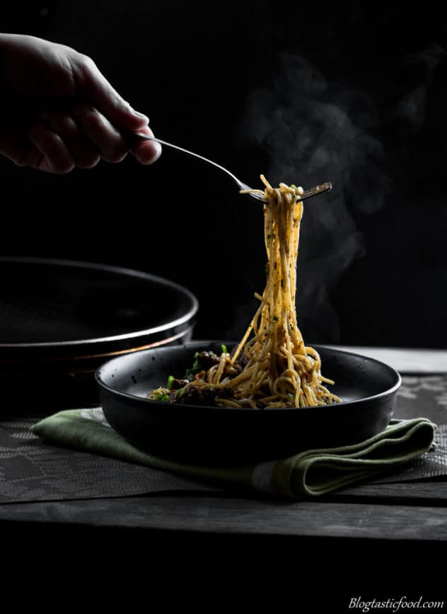 Ways to improve your food photography steamy pasta