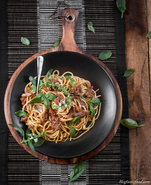 Melt in your mouth Shredded Beef Bolognese