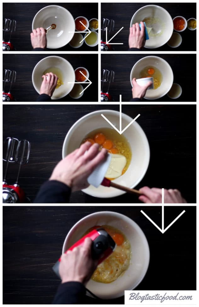 A step by step series of photos showing how to make lemon curd made with sweetened condensed milk.