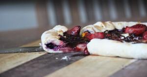 Dessert Pizza with Blueberry Crust 30