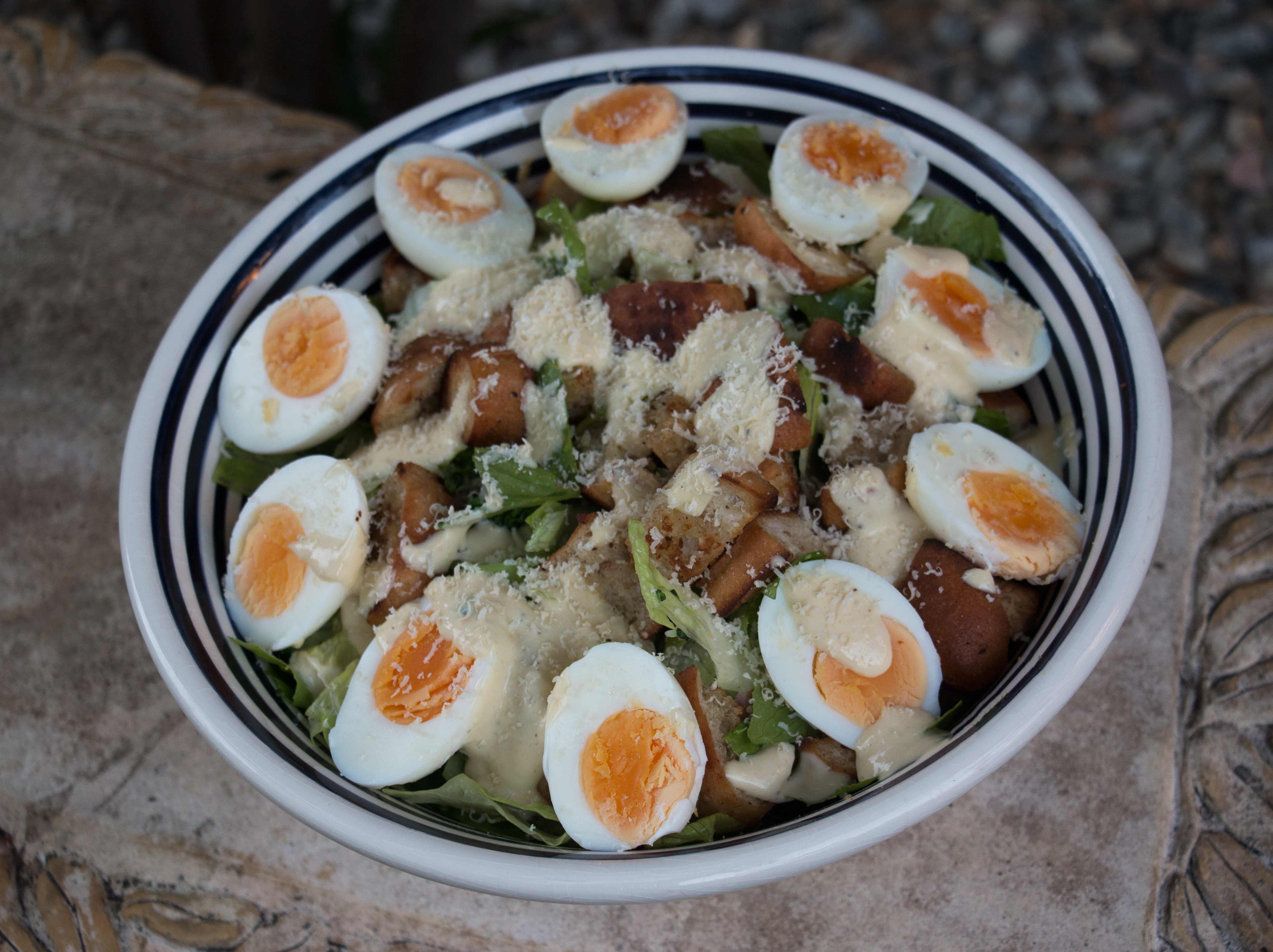 Broccoli Caesar salad
