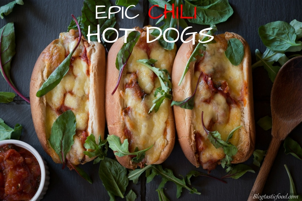 Hot dogs taken to the next level. Cheesy, meaty, chilli.....you know you want it.https://www.blogtasticfood.com/