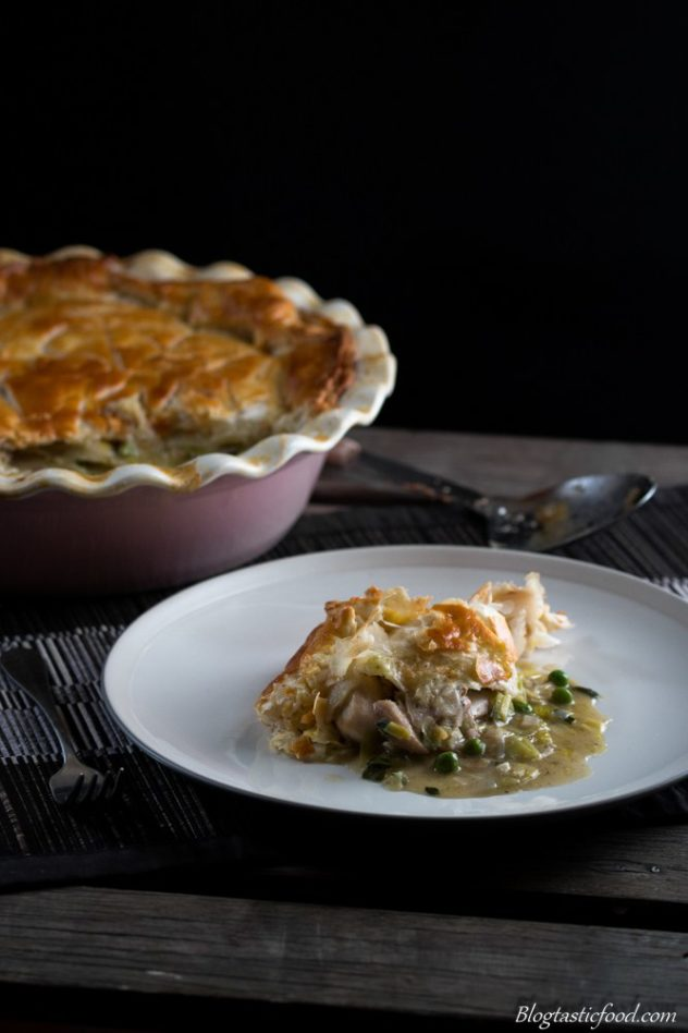 This chicken & leek pie is a warming, filling and comforting pie recipe for a cold day or any gathering. A great way to feed the family. Enjoy!