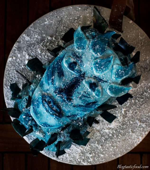 Winter is here! This white walker cake is a tribute to my absolute favourite show of all time, Game of Thrones. Hope you enjoy this recipe!