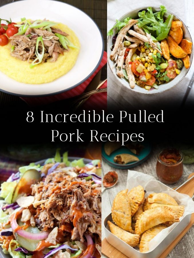 A post featuring 8 pulled pork recipes presented in the form of a Pin.
