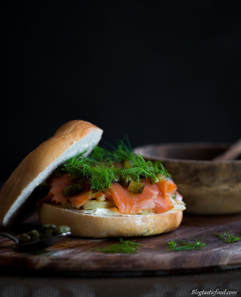 Smoked Trout Bagel Burger