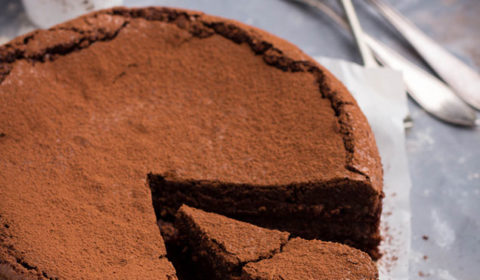 Rose from GimmeTaste.com shows us how to make a cheap, easy, and delicious flourless chocolate cake. You'll love it