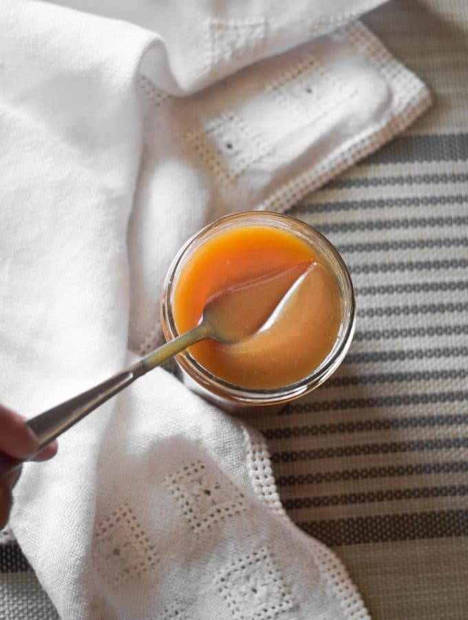 Rum Flavoured Salted Caramel Sauce