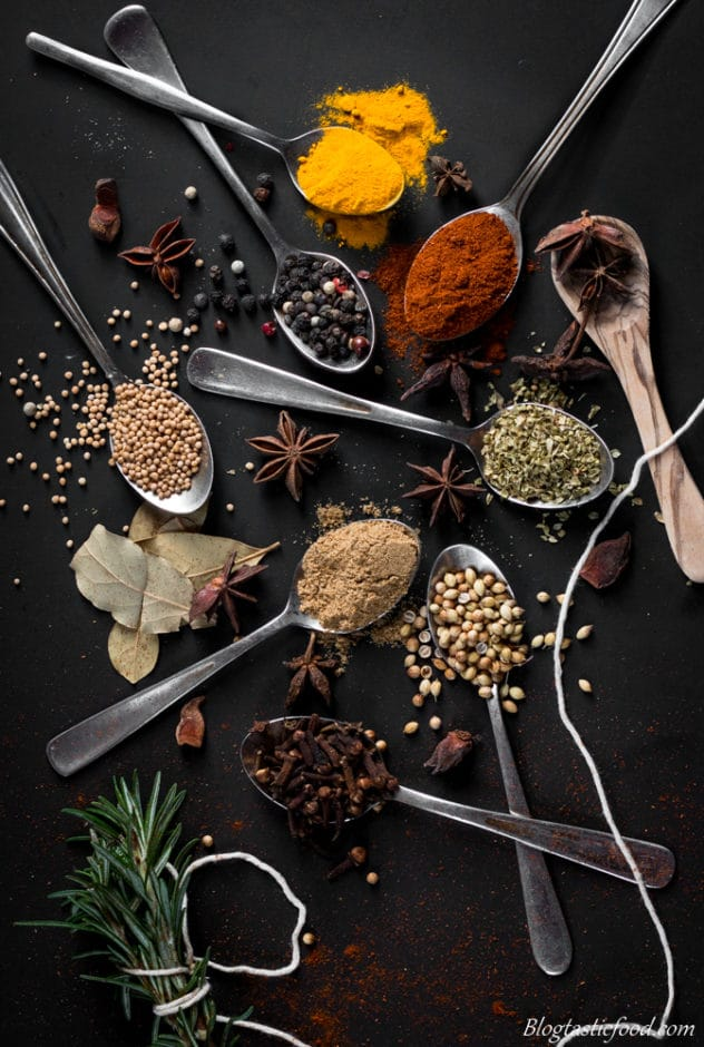 Ways to improve your food photography spices