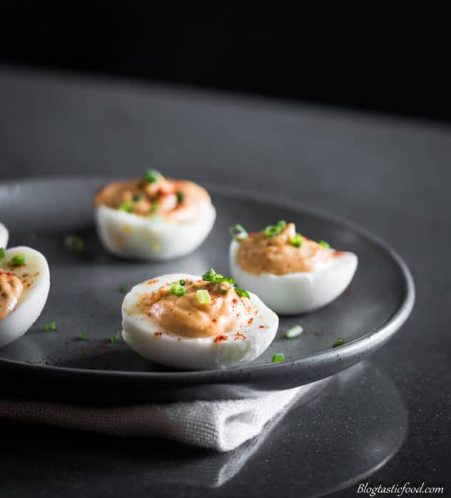 A Delicious, Smokey Deviled Eggs Recipe. Boiled eggs filled with the tastiest, creamiest filling.