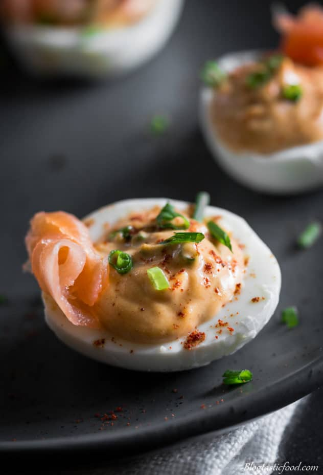 A Delicious, Smokey Deviled Eggs Recipe. Eggs filled with the tastiest, creamiest filling. A wonderful appetizer for the guests.