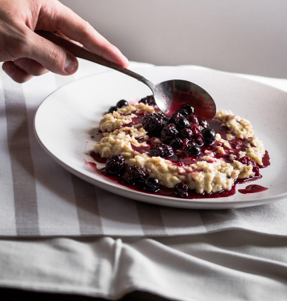Porridge with Stewed Berries