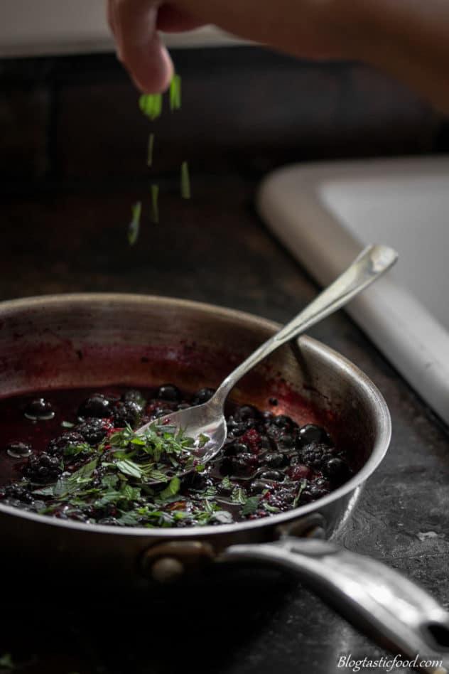 Sweet Honey and Mint Berry Porridge