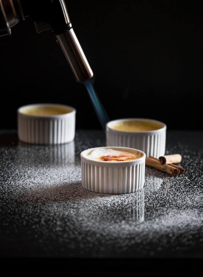 Cinnamon Infused Creme Brulee