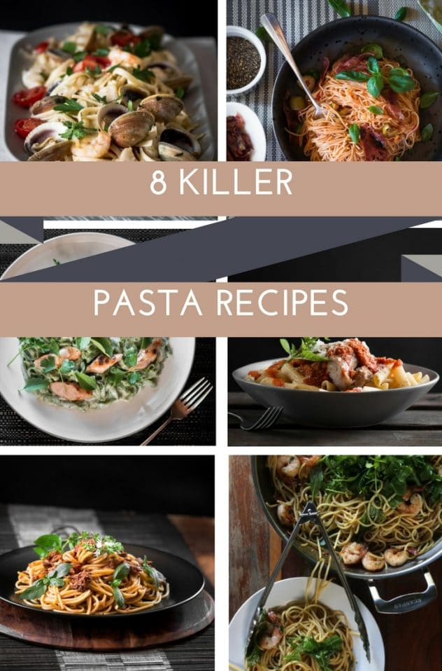Here are a group of fantastic pasta recipes that I guarantee you will love. We are talking fresh pasta, cheesy pasta, seafood pasta, shredded beef, hidden veg.....The list goes on!!