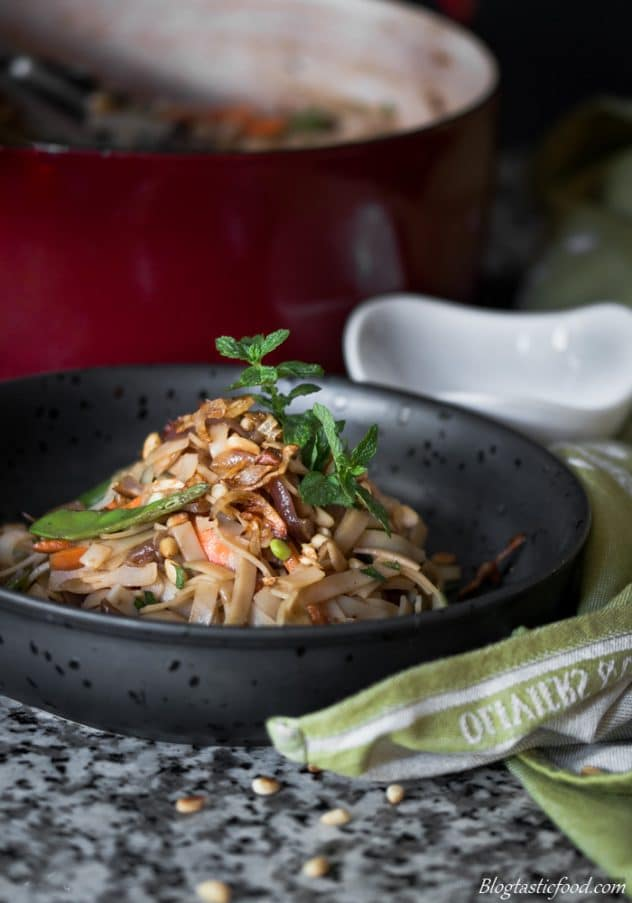 Noodles have always been a favourite of mine, they cook quickly and it's so easy to make them taste awesome. These rice noodles are packed full of flavour and are served with vibrant, crunchy veg.