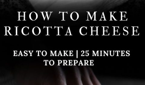 A ricotta cheese recipe presented in the form of a pin for Pinterest.