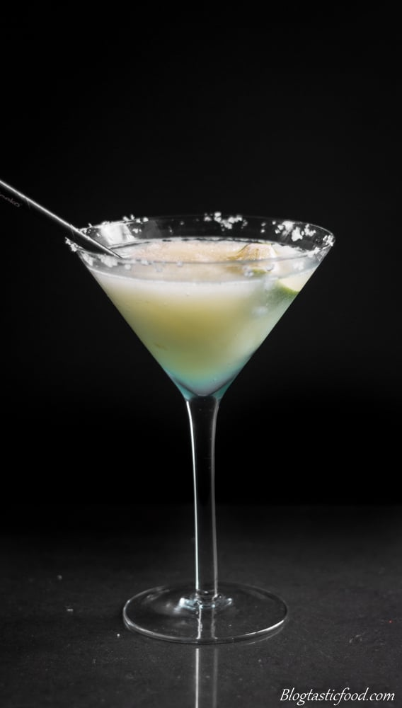 A photo of a virgin frozen margarita.