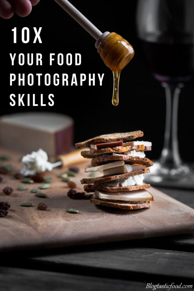 A pinterest front cover for my food photography mastery course page.