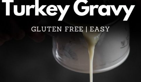 A turkey gravy recipe presented in the form of a pin for Pinterest.